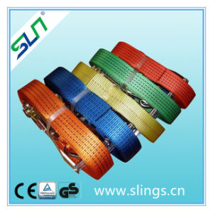 5t*50mm 6m Ratchet Strap with Double J Hook pictures & photos