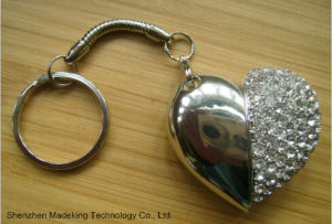 Heart Shape USB Flash Drives USB Driver with Diamond pictures & photos