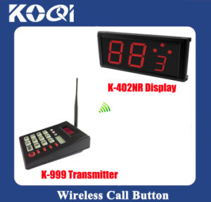 Ticket Number System K-999+402nr for Restaurant with Ticket Dispenser, Display and Callpad pictures & photos