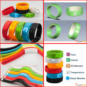 Soprt Pedometer 3D Pedometer Soft Pedometer Wristband Pedometer Smart Bracelet pictures & photos