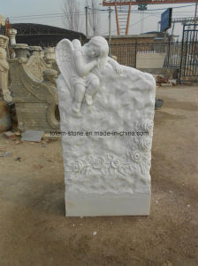 Top Carving Children Sculpture Memorials Headstone for Sale pictures & photos