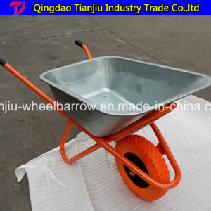 Blue Color Brazil Model Wheel Barrow with Powder Coated Tray pictures & photos