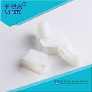 China Factory White R Type Nylon PA66 Cable Clamp for Wire Fixed Wsk-Rt01 pictures & photos