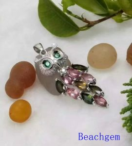 Jewelry-Tourmaline Sterling Silver Pendant (P0282) pictures & photos