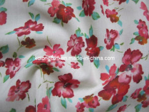 Spun Polyester Printed Voile Fabric for Scarf and Dress