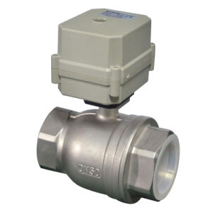 2′′ Electric Stainless Steel 316 Ball Valve Approved NSF61 (T50-S2-C) pictures & photos