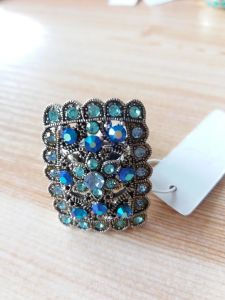Big Retro Blue Gem Ring Informal Occasions Fashion Jewelry pictures & photos