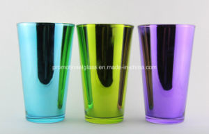 Metallic 16oz Beer Pint Glass, Glass Tumbler
