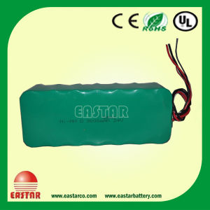 Ni-MH Battery Pack 24V 10ah (1.2V 10000mahd High Power Type E-Bike Battery pictures & photos