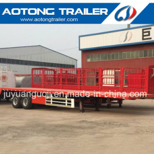 2 Axle 40FT Flatbed Container Semi Truck Trailer with 12 Unit Twist Lock pictures & photos