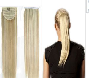 1 PC 50cm High Quality 18/P613 Women Straight Wrap Around Ponytail Long Hair Ring