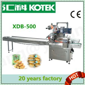 Xdb-500 Three Servo Automatic Filling Sealing and Forming Food Packaging Machine Bakery Equipment Egg Biscuit Wafer Roll Packing Machine pictures & photos
