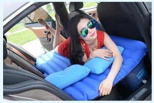 Inflatable Car Air Bed Travel Air Bed Foldable Bed in Car Bus Make Love Air Bed