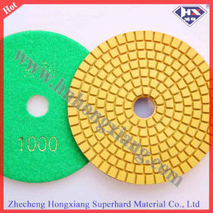 "4"" China Wet Stone Floor Angle Polishing Pad pictures & photos"