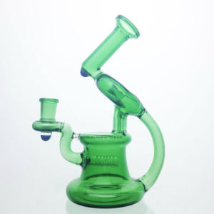 Colored Glass Pipe Recycler Oil Rigs Glass Water Pipes Smoking Pipe Function Glass Pipe 14 mm Joint Bowl pictures & photos