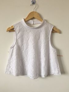 Lady Fashion Clothes Women Tops Cotton Lace Sleeveless Tank Top pictures & photos