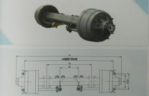 High Quality Trailer Axle American Type Outboard Axle From Manufacturer pictures & photos