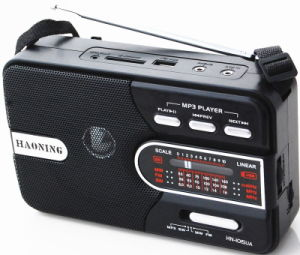Multifunction Radio with USB/SD and Rechargeable Battery (HN-1015UAR)