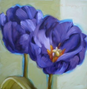 Purple Flower Painting Canvas