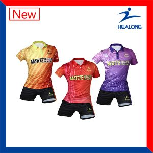 Healong Cheap Sublimation Hot Sale Screen Printing Table Tennis Tracksuit pictures & photos