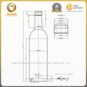 Sample Free 750ml Bordeaux Glass Bottle for Red Wine (038) pictures & photos