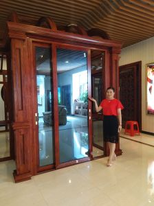 Aluminium Sliding Door with Double Tempered Glazing for Balcony pictures & photos