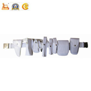 Police Equipment The Third Generation White Leather Belt (Y SD-03n) pictures & photos