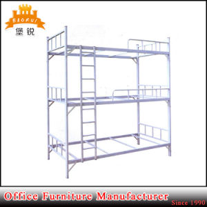 Dormitory Furniture Metal Triple Bunk Bed for Germany Refugees pictures & photos
