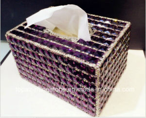 Glitter Rhinestone Sparkly Luxury Clean Bling Box for Napkin Box Paper Holder Box (TB-011) pictures & photos
