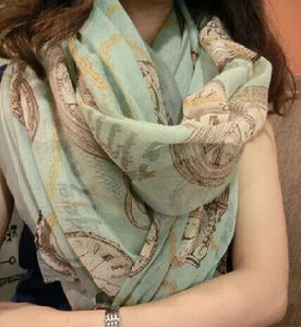 Newest Fashion Women Voile Fabric for Scarf