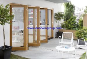 Imported Solid Timber Folding Glass Door, Most Suitable Thermal Break Aluminum Bifolding Glass Door pictures & photos