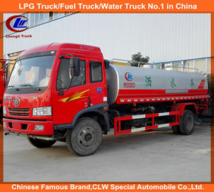 FAW 4X2 Small Water Cart 10000L Water Tank Truck for Road Washing pictures & photos