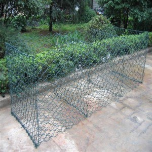 Green Color PVC Caoted Gabion Basket pictures & photos