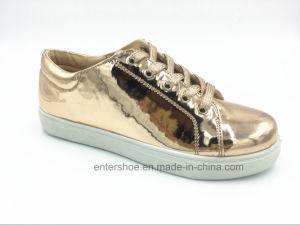 Fashion Shiny Leather Casual Shoes for Women (ET-XK160350W) pictures & photos