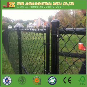 Black PVC Coated Chain Link Fence Gate Use in Garden pictures & photos