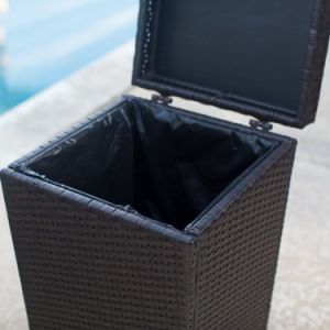 Well Furnir T-032 Wicker Outdoor Trash Can pictures & photos