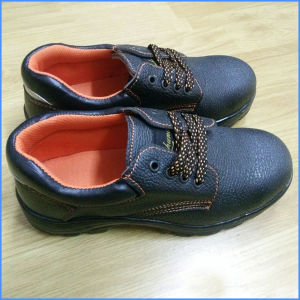 Hot Sale PU Leather Safety Shoes pictures & photos