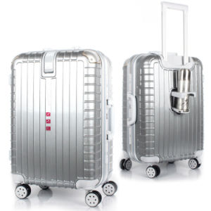Durable Carrying Trolley Case with Bottle Holder pictures & photos