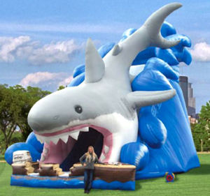 High Shark Inflatable Slide