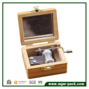 8 Tone Retro Handcrank Wooden Music Box for Gift pictures & photos