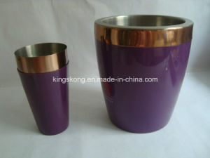Plated Stainless Steel Ice Bucket Copper Plated Stainless Steel Ice Bucket pictures & photos