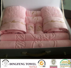 100% Cotton Towel Set with Logo Embroidery Df-2816 pictures & photos