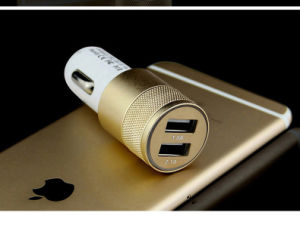 Mini Dual USB Ports Car Charger for iPhone or Samsung etc pictures & photos