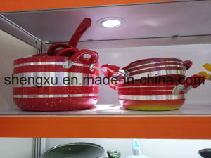 Coated Alloy Aluminium Non-Stick Frying Pan Pot Stockpot for Cookware Sets Sx-Yt-A012 pictures & photos