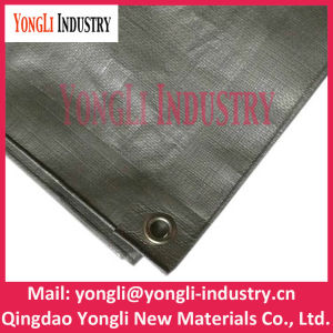 Heavy Duty Recycling Jasper PE Woven Fabric Tarp pictures & photos