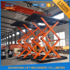 3t Portable Auto Motor Scissor Lift Ce Approved pictures & photos