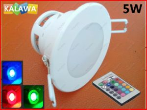 1PC 5W Anti-Fog Ceiling Colorful Downlight Dimmable High Power RGB LED Spot Light for Home Cupboard Thd-003^Jmq
