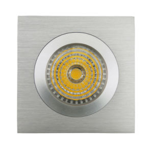 Lathe Aluminum GU10 MR16 Square Recessed Fixed LED Downlight (LT2111A) pictures & photos