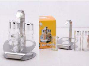 Transparent 3-PCS Spice Rack Set Spice Jar (CS-048) pictures & photos