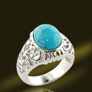 925 Sterling Silver Turquoise Ring Semi Precious Jewelry